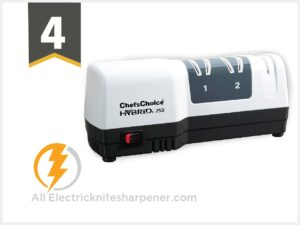 Chef sChoice 250 Diamond Hone Hybrid Sharpener Combines Electric and Manual Sharpening