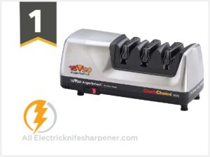 Chef sChoice Hone Electric Knife Sharpener for 15 and 20-degree Knives 100% Diamond Abrasive
