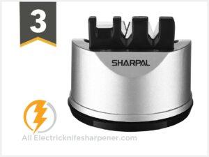 SHARPAL 191H Pocket Kitchen Chef Knife & Scissors Sharpener for Straight & Serrated Knives
