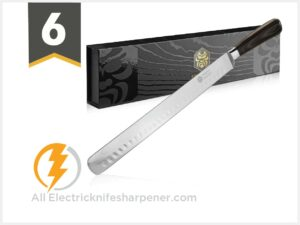 Kessaku Slicing Carving Knife - Samurai Series - Japanese Etched High Carbon Steel